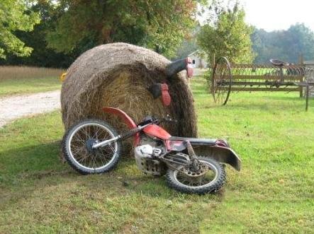 Il motociclista campagnolo