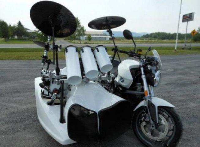 La moto di un batterista