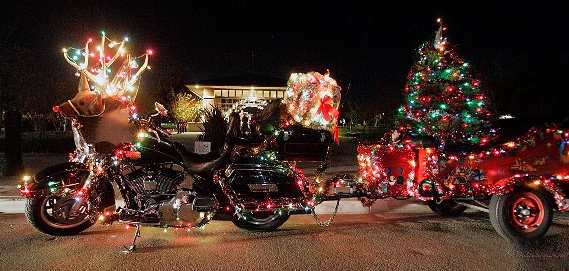Ecco la motoslitta di Babbo Natale