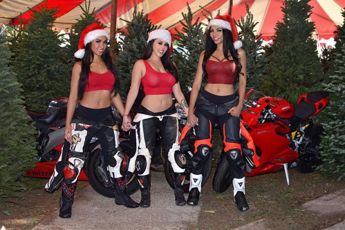 Le motocicliste a natale