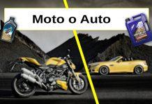 olio per auto o moto