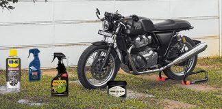 prodotti per la pulizia della moto